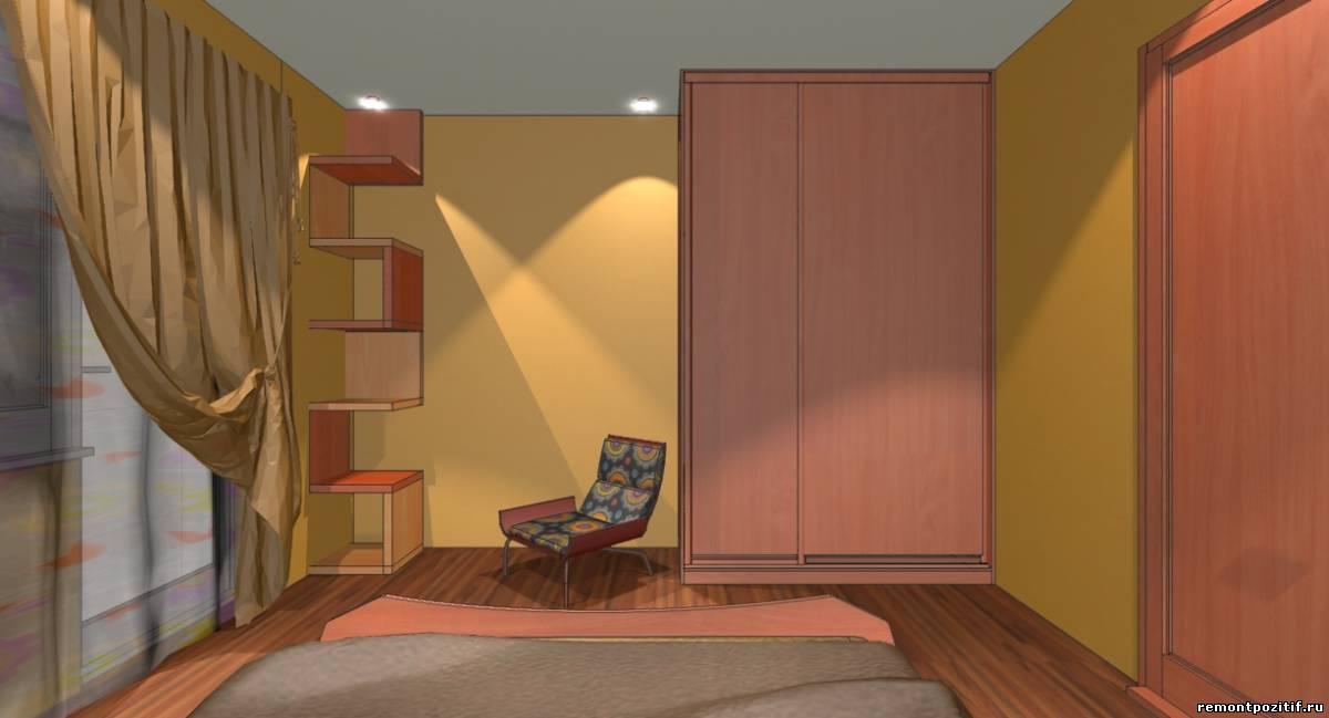 дизайн персиковой спальни