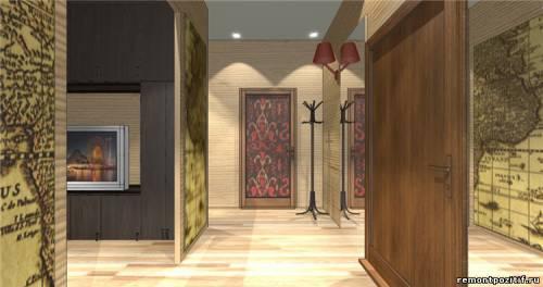 дизайн прихожей в типовой квартире