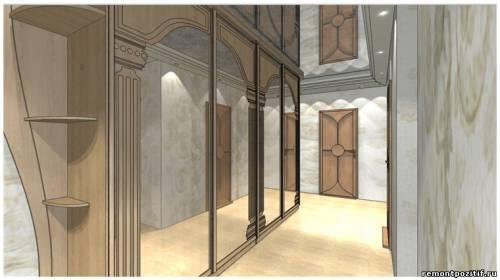 дизайн интерьера прихожей в типовой квартире