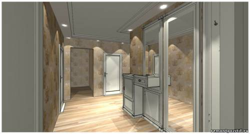дизайн проект прихожей в типовой квартире