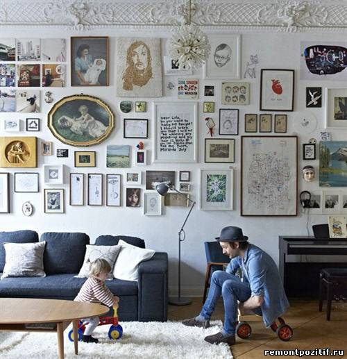картины и постеры в дизайне стен