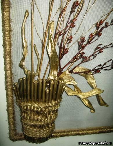 декоративное панно из сухих растений