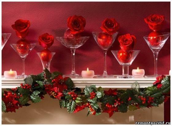 украшение камина к новому году и рожедству