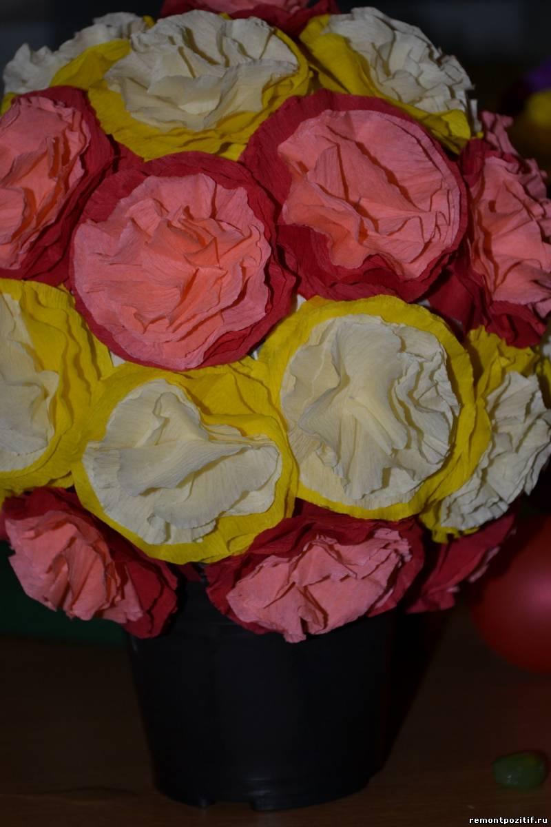 цветочный шар из бумаги на праздник 8 марта