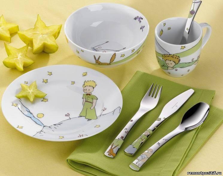 детская посуда из фарфора