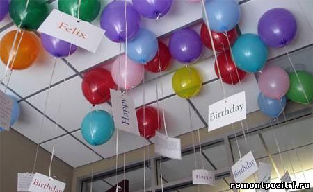украшаем интерьер воздушными шарами