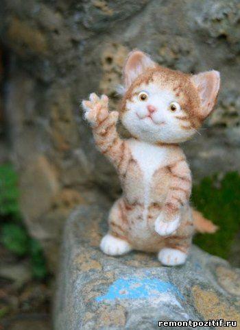 котенок из войлока