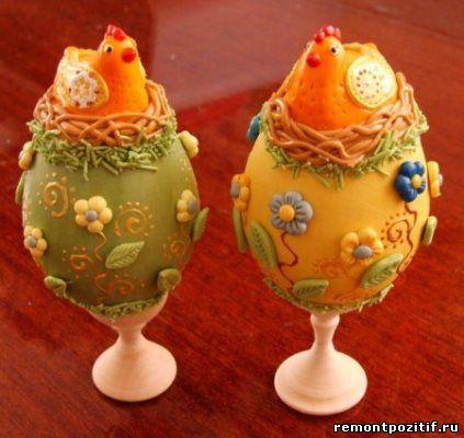 пасхальные яйца из соленого теста