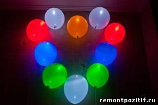 сердце из светящихся шаров