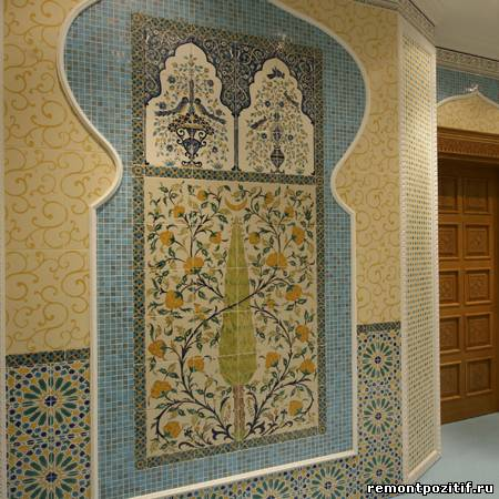 настенное панно из мозаики