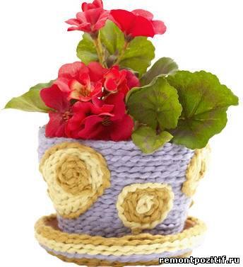оригинальный цветочный горшок