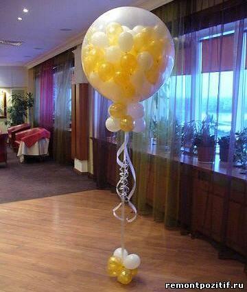 шары сюрпризы для праздничного интерьера