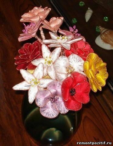 цветы в технике ганутель