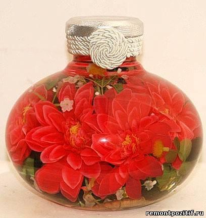 Цветы в бутылку своими руками