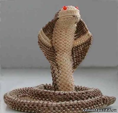 Змея в технике макраме фото.