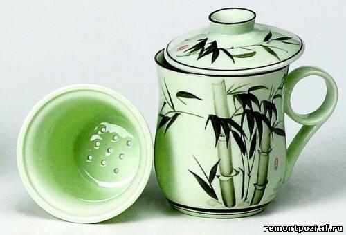 чашка для чая с заварочной колбой