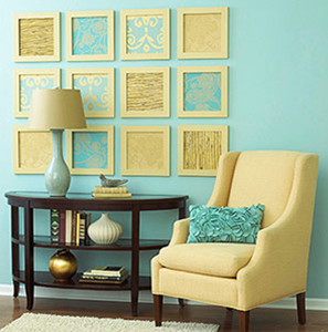 рамки для картин в оформлении стен