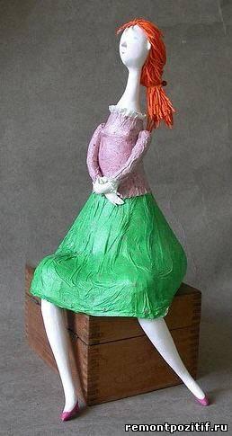 статуэтка из папье-маше