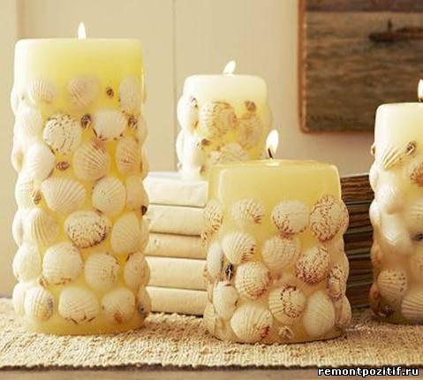 декоративные свечи для дома