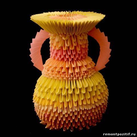 ваза в технике оригами