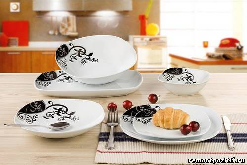 посуда из фаянса для кухни