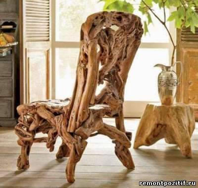 стул из корней деревьев