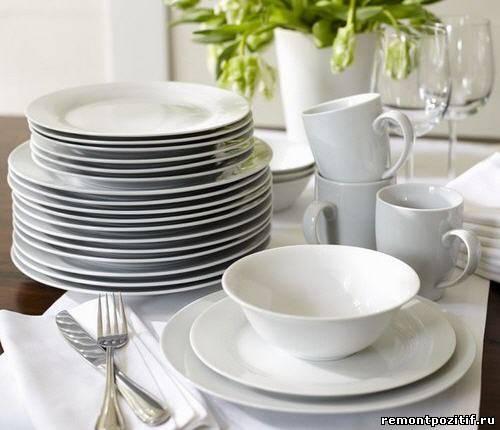фаянсокая посуда для кухни