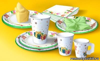 одноразовая праздничная посуда
