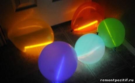 шары со светодиодными палочками