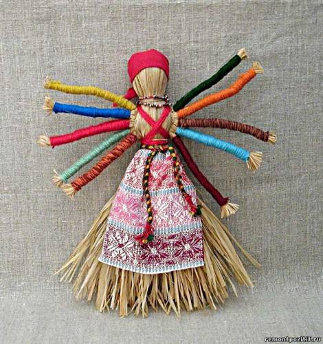 обереговая кукла десятиручка