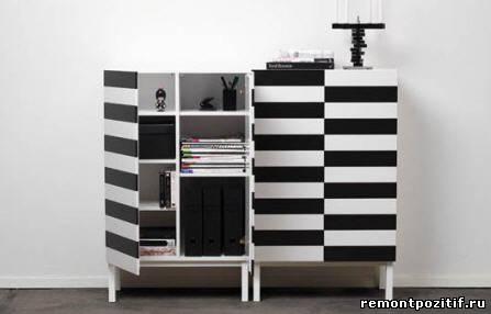 полосатая корпусная мебель