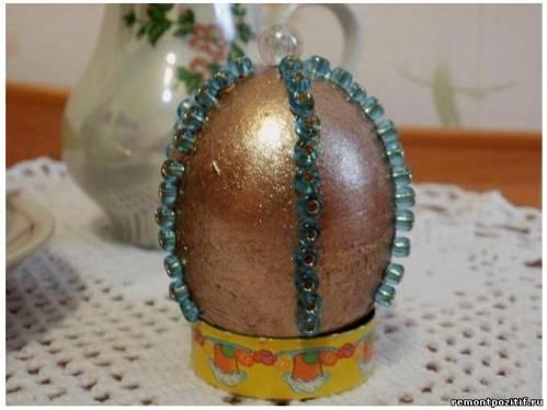 украшения к Пасхе из яиц