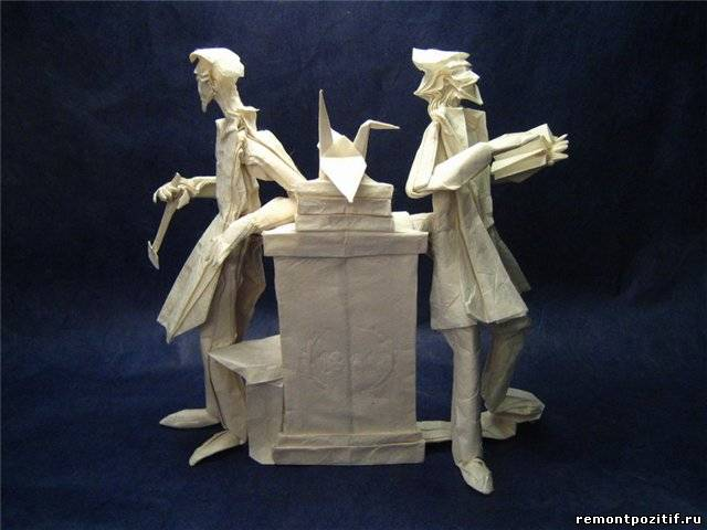 статуэтка в технике оригами