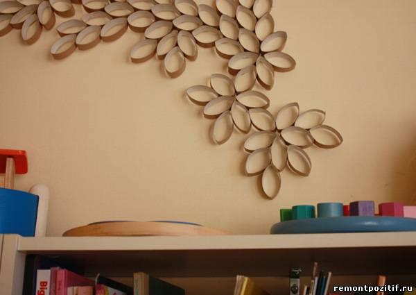 оригинальное настенное панно из картона