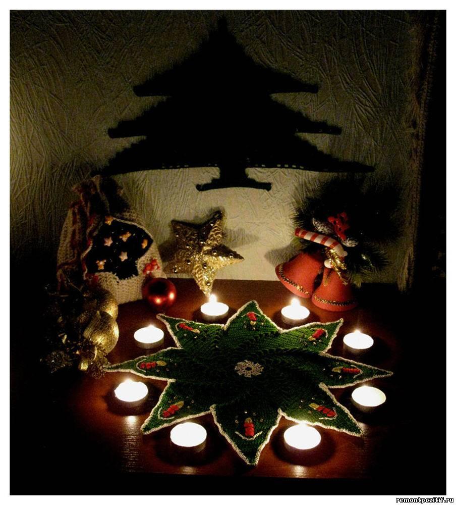 Вязаные украшения к Новому году