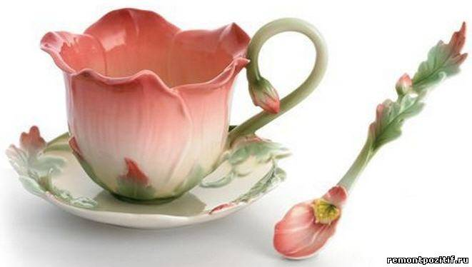 чашка из лепного китайского фарфора