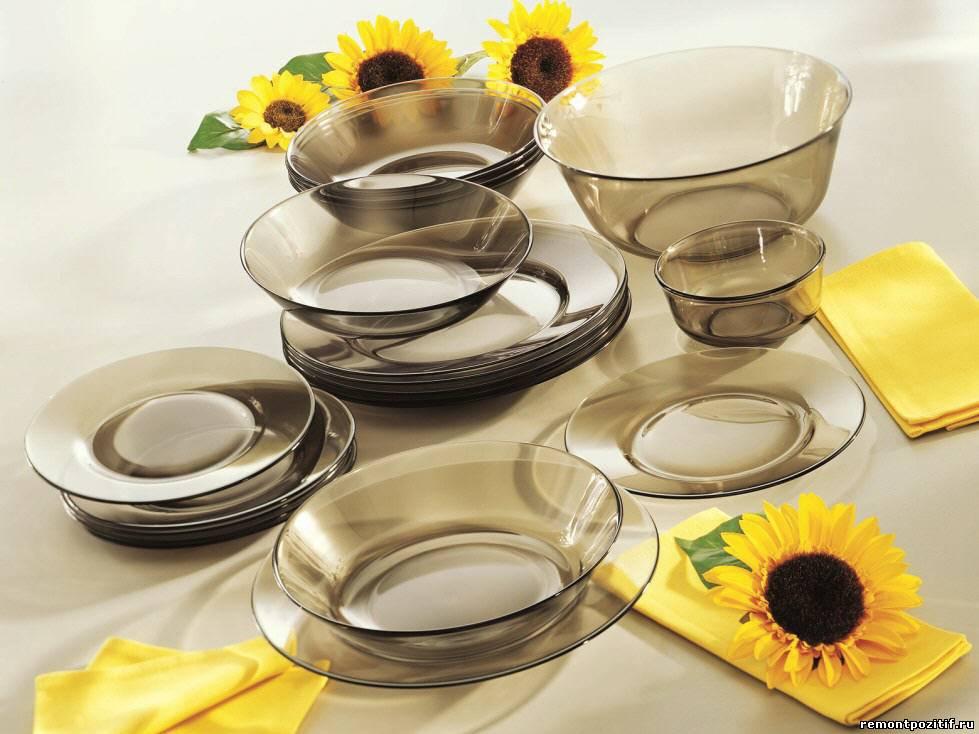 посуда из стекла для кухни