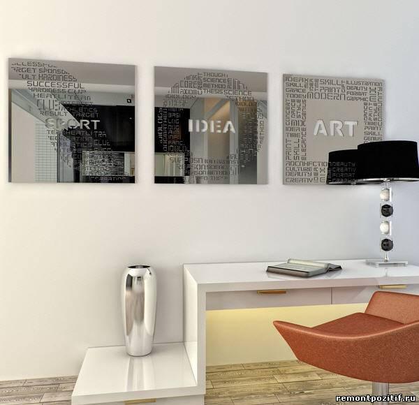 зеркальные панно для стен