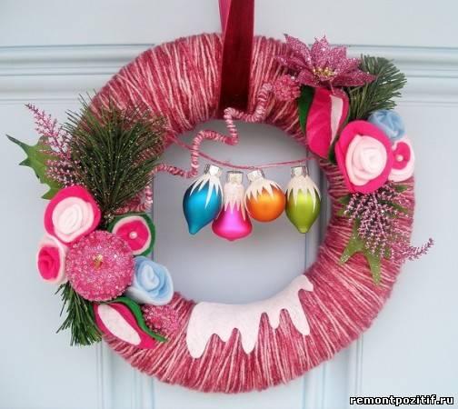 рождественский венок для дверей