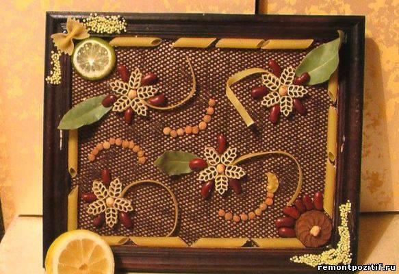 Панно для кухни своими руками из макарон