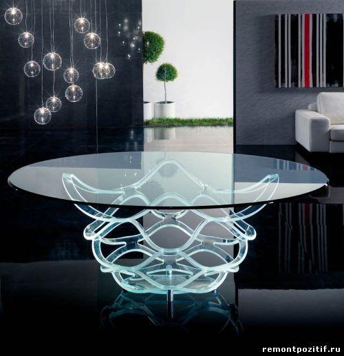 стол из оргстекла