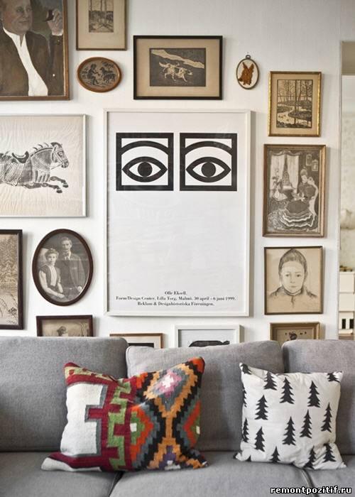 картины и постеры в декоре стен
