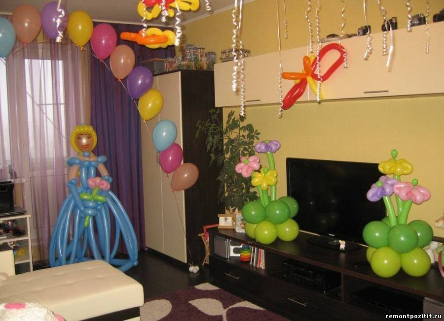 декор интерьера к детскому празднику