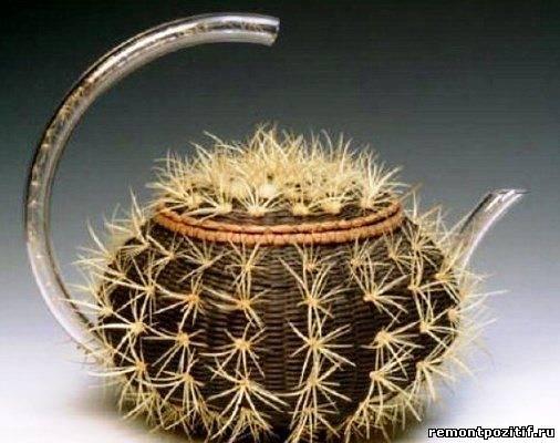 чайник в виде кактуса
