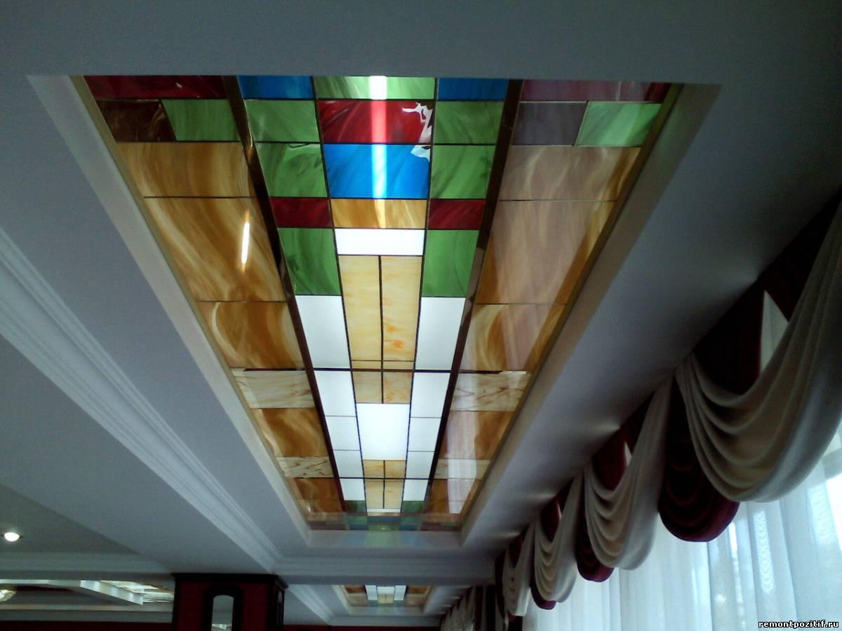 потолочное витражное панно