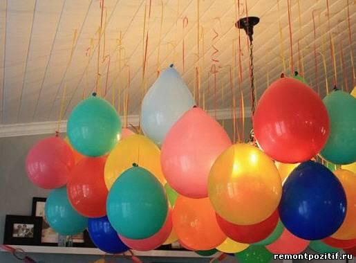 воздушные шары для украшения интерьера