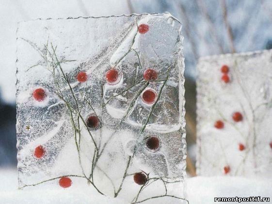 ледяные украшения для сада