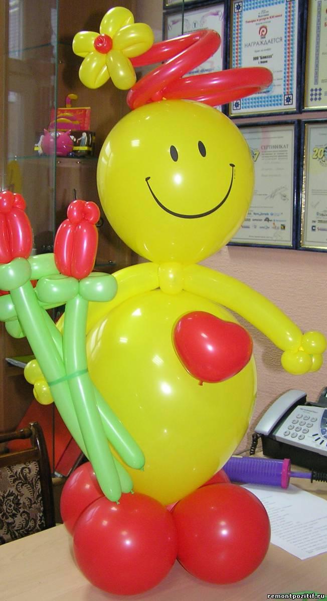 подарок из воздушных шаров ко дню святого валентина