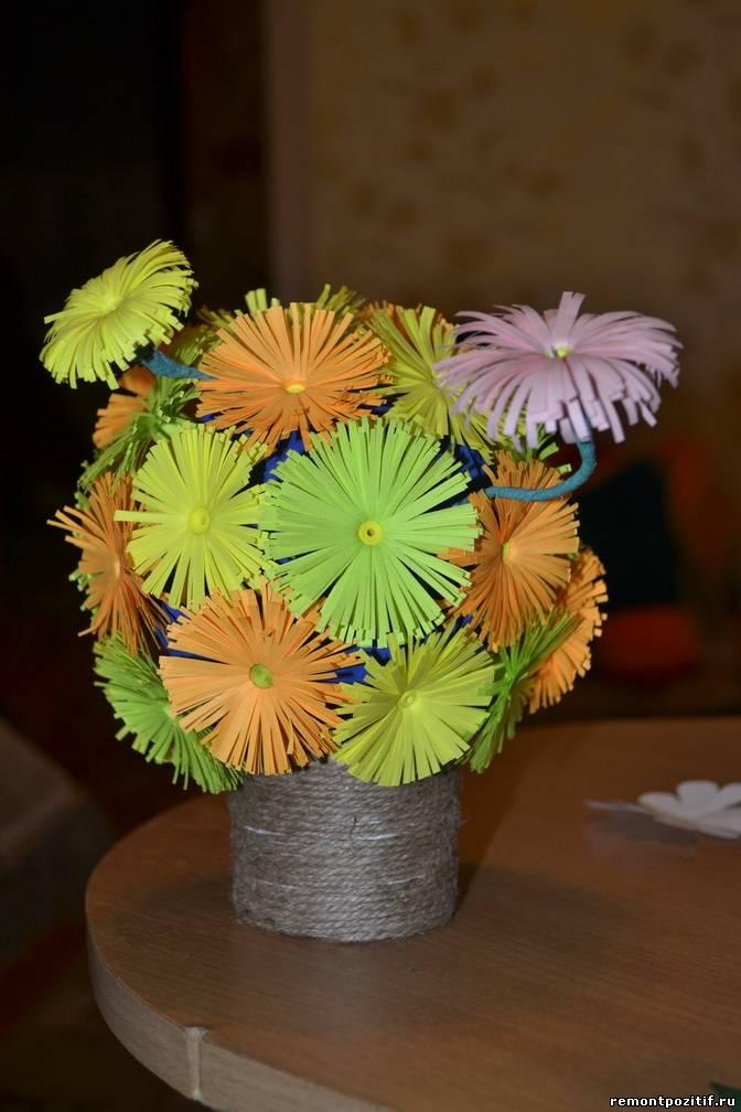 цветочный шар из хризантем к празднику 8 марта