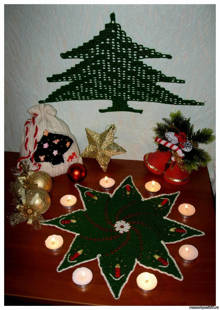 Новогоднее вязание крючком фото.